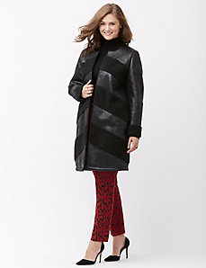 Faux sherpa coat