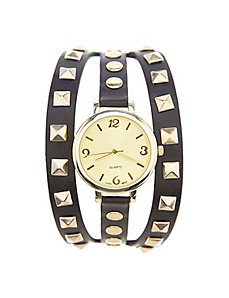 Studded strap watch