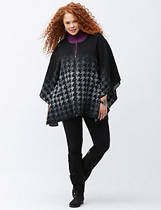Ombre houndstooth cape