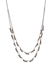 Layered stone necklace