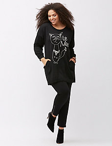 Le Meow sweater by Melissa McCarthy Seven7