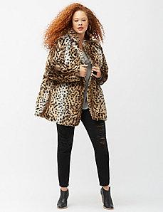 6th & Lane leopard coat