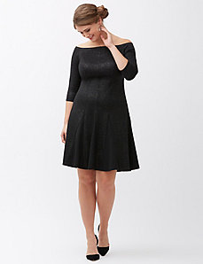 Glimmer fit & flare dress by Lela Rose