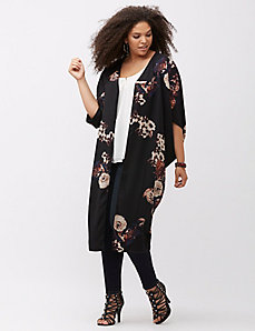 Floral cocoon duster by Melissa McCarthy Seven7