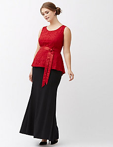 Lily lace peplum top by Lela Rose