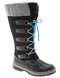 Sock top winter boot
