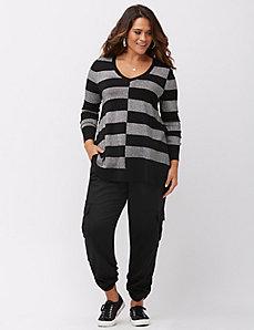 Metallic stripe tunic