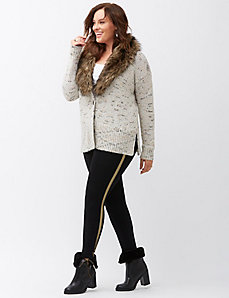 Control top leggings with gold stripe
