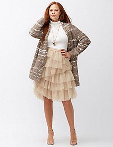 Metallic layered tulle skirt