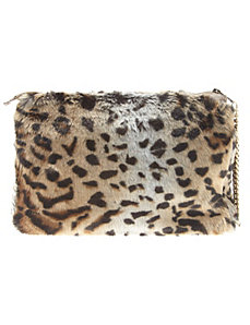 Animal fur handbag