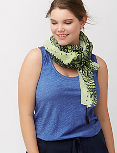 Ombre scroll print scarf