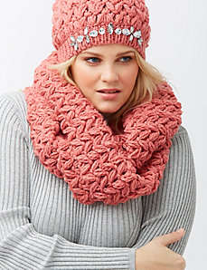 Crochet eternity scarf