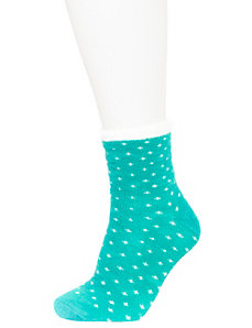 Blurred dot cozy socks