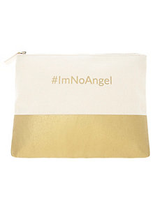 #ImNoAngel make-up bag
