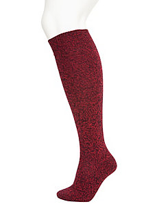Marled yarn boot sock