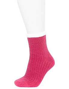 Contrast cuff cozy socks