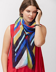 Gala striped scarf