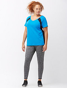 Marled brushed back active legging