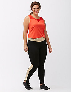 Signature Stretch gold spliced active legging