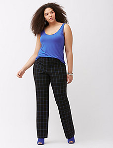 Sophie Tailored Stretch grid pattern trouser