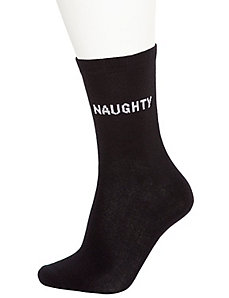 Naughty & Nice crew socks 2-pack
