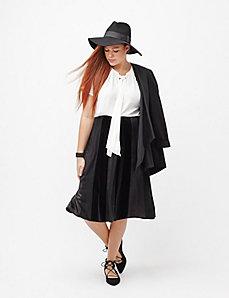 Velvet & satin skirt