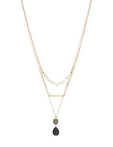 3 in 1 goldtone necklace