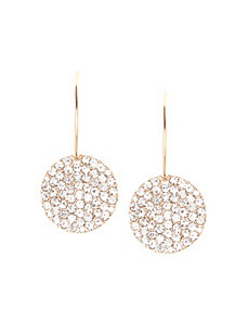 Small pave disc earrings