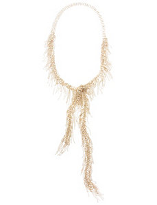 Open fringe rope necklace