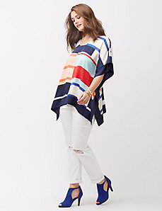 Yacht stripe drama top