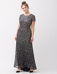 Scoop back sequin gown by Adrianna Papell