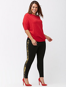 Legging with sequin side stripe by Lysse