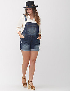Denim short-all