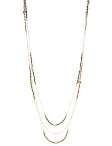 Two tone layered necklace