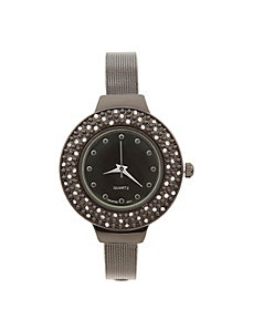 CZ round face watch