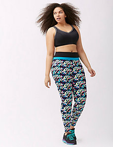 Antimicrobial printed active legging