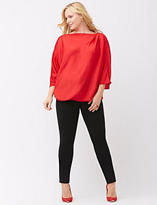 Asymmetric satin tunic