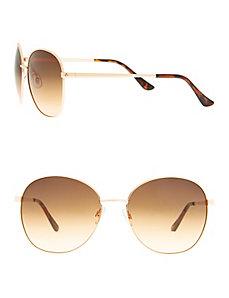 Aviator sunglasses with tortoiseshell