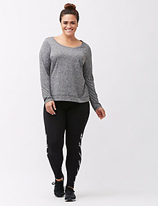 Wicking open back active tee