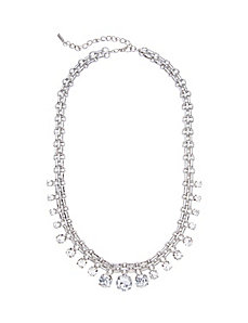 CZ statement necklace