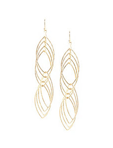 Twisted multi link earrings