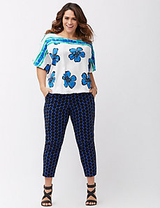Print mix dolman top
