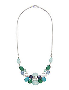 Blue tonal statement necklace