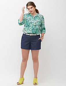 Lena Faux Denim Short