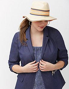 Striped Panama hat