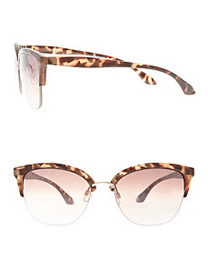 Tortoiseshell top rim sunglasses