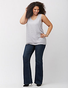Embellished flare jean by Melissa McCarthy Seven7