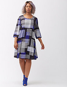 Graphic print shift dress