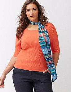 Wander stripe skinny scarf