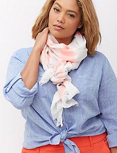 Neon stripe scarf